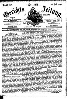 Berliner Gerichts-Zeitung vom 22.06.1895
