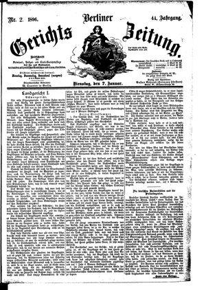 Berliner Gerichts-Zeitung vom 07.01.1896