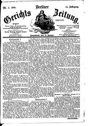 Berliner Gerichts-Zeitung vom 11.01.1896