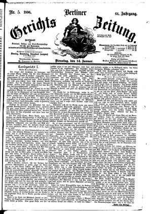 Berliner Gerichts-Zeitung vom 14.01.1896