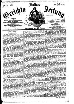 Berliner Gerichts-Zeitung vom 16.01.1896