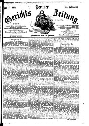 Berliner Gerichts-Zeitung vom 18.01.1896