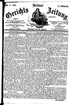 Berliner Gerichts-Zeitung vom 21.01.1896