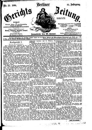Berliner Gerichts-Zeitung vom 25.01.1896