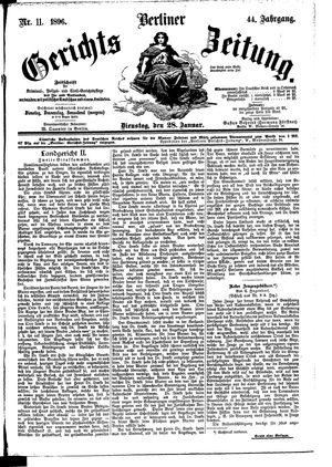 Berliner Gerichts-Zeitung on Jan 28, 1896