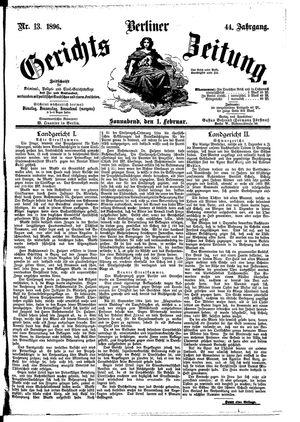 Berliner Gerichts-Zeitung vom 01.02.1896