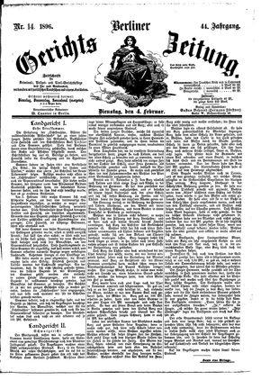 Berliner Gerichts-Zeitung vom 04.02.1896