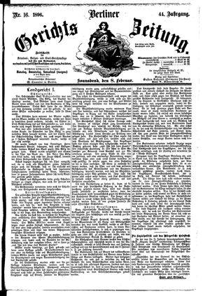 Berliner Gerichts-Zeitung vom 08.02.1896