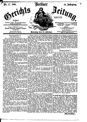 Berliner Gerichts-Zeitung vom 11.02.1896