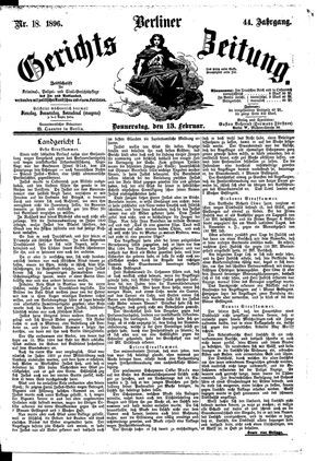 Berliner Gerichts-Zeitung vom 13.02.1896