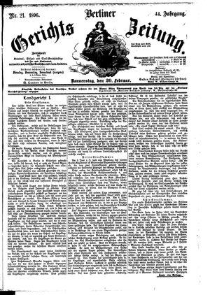 Berliner Gerichts-Zeitung on Feb 20, 1896