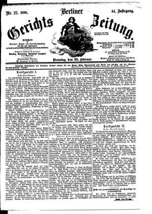 Berliner Gerichts-Zeitung vom 25.02.1896