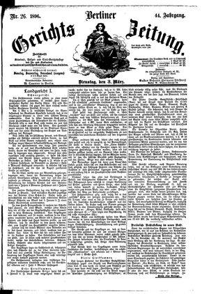 Berliner Gerichts-Zeitung vom 03.03.1896