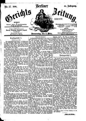 Berliner Gerichts-Zeitung vom 05.03.1896