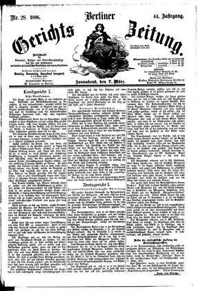 Berliner Gerichts-Zeitung vom 07.03.1896