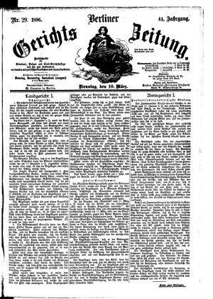 Berliner Gerichts-Zeitung vom 10.03.1896