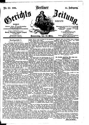 Berliner Gerichts-Zeitung vom 12.03.1896