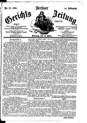 Berliner Gerichts-Zeitung vom 17.03.1896
