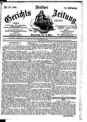 Berliner Gerichts-Zeitung vom 19.03.1896