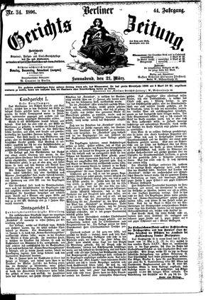 Berliner Gerichts-Zeitung vom 21.03.1896