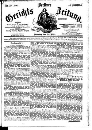Berliner Gerichts-Zeitung vom 24.03.1896