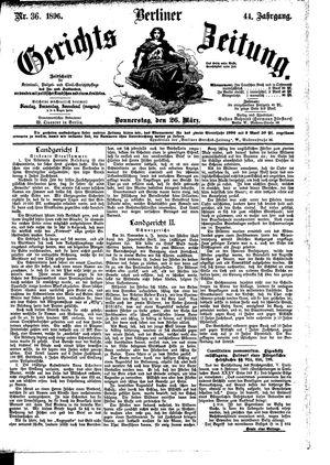 Berliner Gerichts-Zeitung vom 26.03.1896