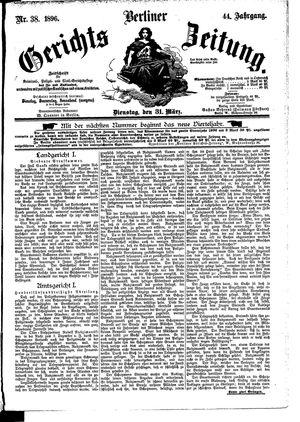 Berliner Gerichts-Zeitung vom 31.03.1896