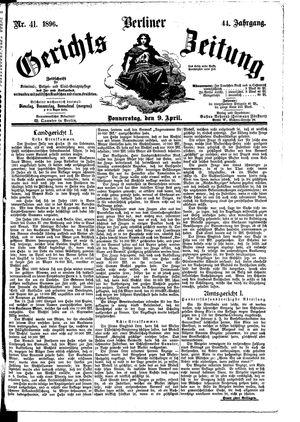 Berliner Gerichts-Zeitung vom 09.04.1896