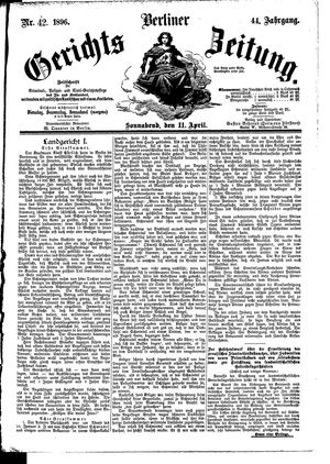 Berliner Gerichts-Zeitung vom 11.04.1896