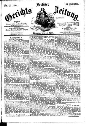 Berliner Gerichts-Zeitung vom 14.04.1896