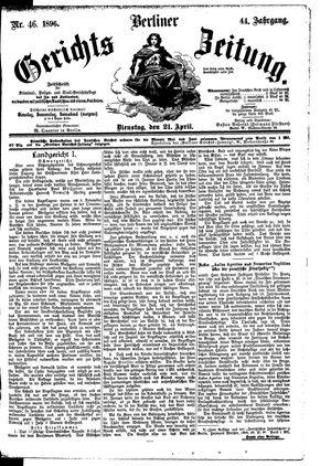Berliner Gerichts-Zeitung vom 21.04.1896