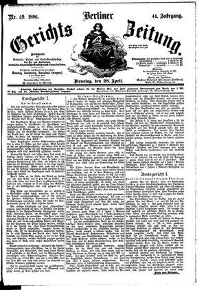 Berliner Gerichts-Zeitung vom 28.04.1896
