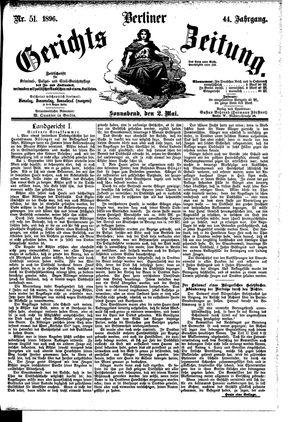 Berliner Gerichts-Zeitung vom 02.05.1896