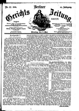 Berliner Gerichts-Zeitung vom 05.05.1896