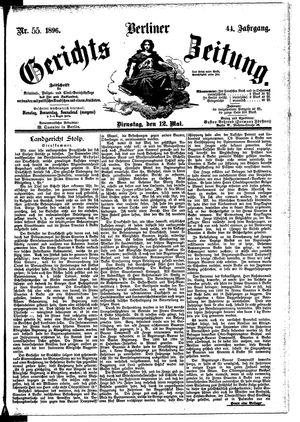Berliner Gerichts-Zeitung vom 12.05.1896