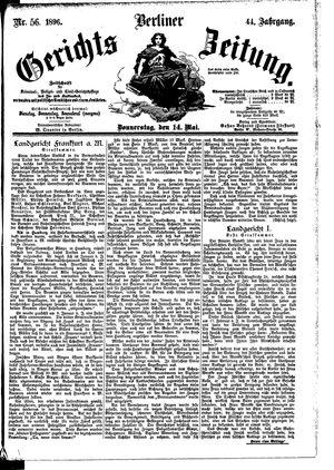 Berliner Gerichts-Zeitung vom 14.05.1896