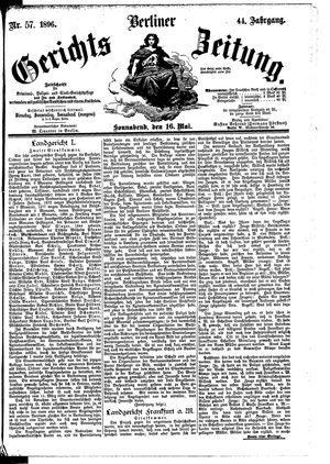 Berliner Gerichts-Zeitung on May 16, 1896