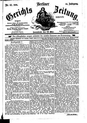 Berliner Gerichts-Zeitung vom 23.05.1896