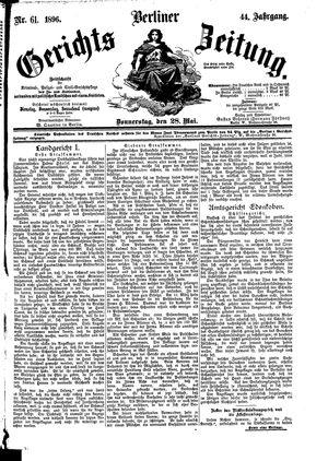 Berliner Gerichts-Zeitung vom 28.05.1896