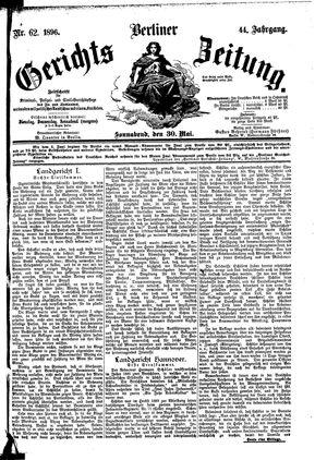 Berliner Gerichts-Zeitung on May 30, 1896