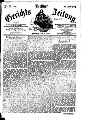 Berliner Gerichts-Zeitung vom 02.06.1896