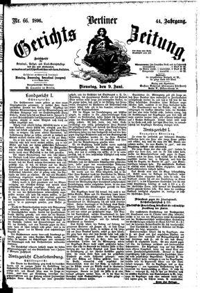 Berliner Gerichts-Zeitung vom 09.06.1896
