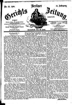 Berliner Gerichts-Zeitung vom 13.06.1896