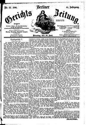 Berliner Gerichts-Zeitung vom 16.06.1896