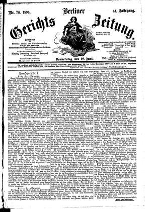 Berliner Gerichts-Zeitung vom 18.06.1896