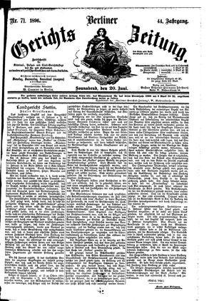 Berliner Gerichts-Zeitung vom 20.06.1896