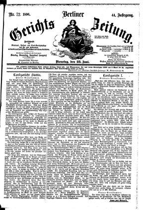 Berliner Gerichts-Zeitung vom 23.06.1896