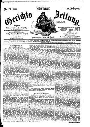 Berliner Gerichts-Zeitung vom 27.06.1896