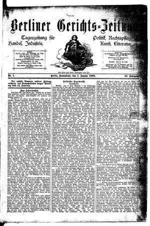 Berliner Gerichts-Zeitung vom 01.01.1898