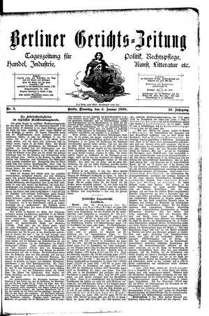 Berliner Gerichts-Zeitung vom 04.01.1898